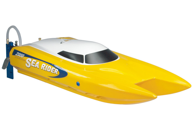 Offshore sea rider 2.4G RTR, red color and yellow color,  with 11.1V 2200mAh 35C LiPo T-Plug