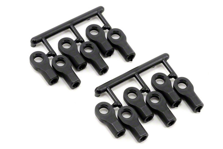 Тюнинг для радиоуправляемых машин RPM Traxxas Short Rod Ends - Black