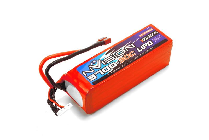 Аккумулятор nVision 22.2V 3700mAh 30C LiPo Deans plug аккумулятор nvision lipo 14 8 v 4s 30c 3700 mah nvo1815