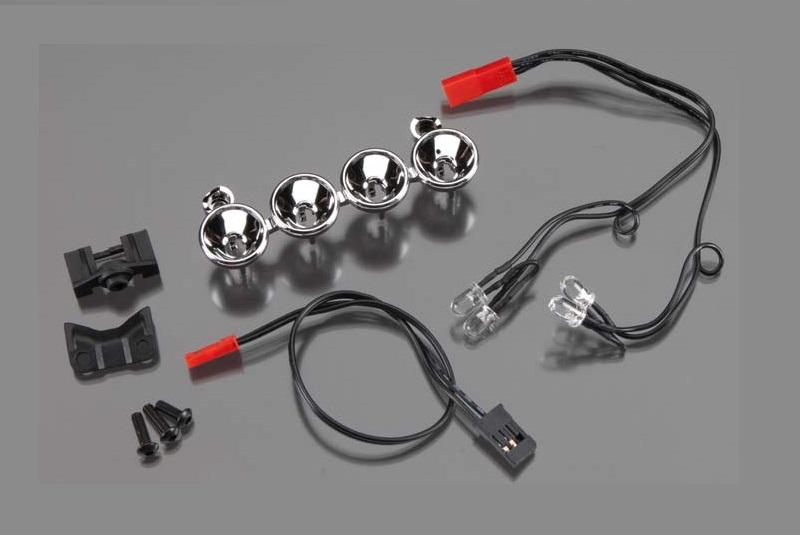Комплект светотехники TRAXXAS LED lightbar (chrome, 4 clear lights)