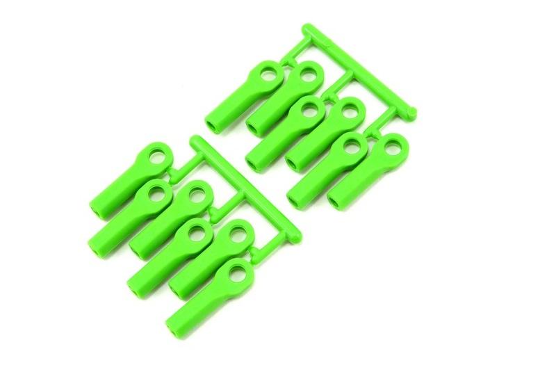 Тюнинг для радиоуправляемых машин RPM Traxxas Long Rod Ends - Green