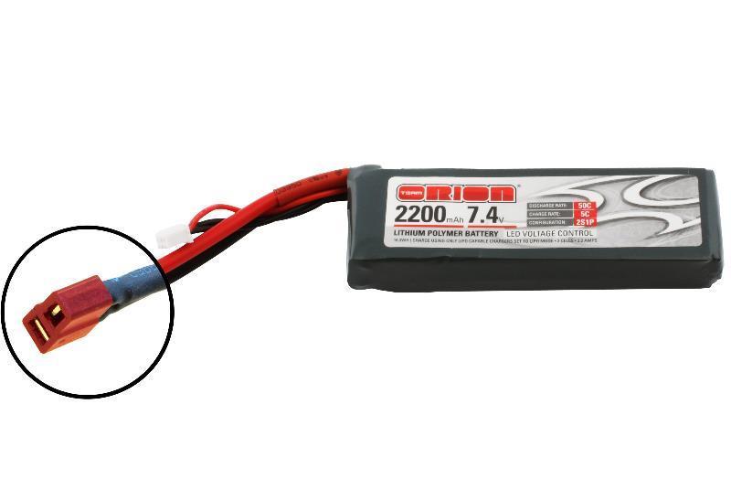 Аккумулятор Team Orion Batteries 7.4V 2200mAh 50C LiPo Deans plug аккумулятор team orion batteries 11 1v 2200mah 50c lipo xt60 plug led status