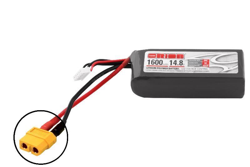 Аккумулятор Team Orion Batteries 14.8V 1600mAh 50C LiPo XT60 plug