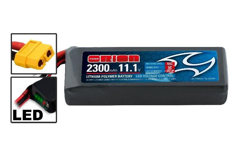 Аккумулятор Team Orion Batteries 11.1V 2300mAh 55C LiPo XT60 plug Drone racing аккумулятор team orion batteries 11 1v 2200mah 50c lipo xt60 plug led status