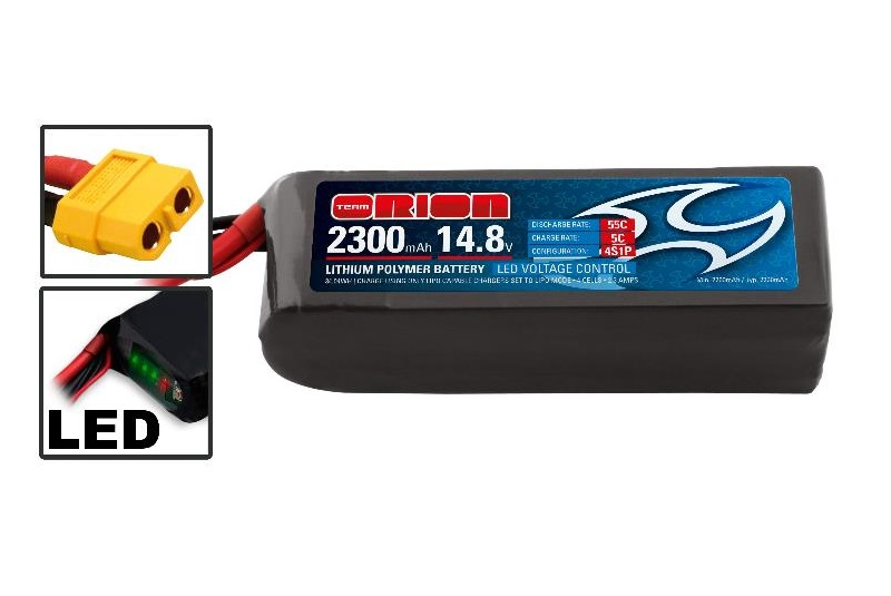 Аккумулятор Team Orion Batteries 14.8V 2300mAh 55C LiPo Softcase XT60 plug Drone racing аккумулятор team orion batteries 11 1v 2200mah 50c lipo xt60 plug led status