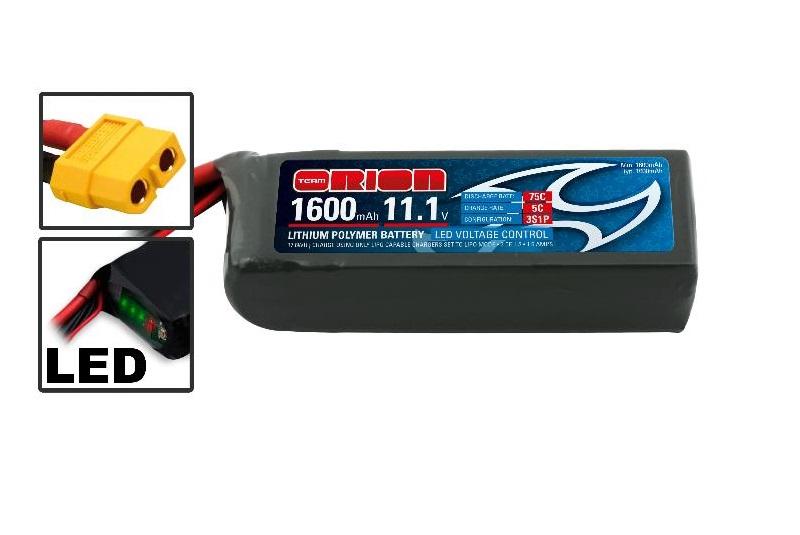 Аккумулятор Team Orion Batteries 11.1V 1600mAh 75C LiPo XT60 plug Drone racing аккумулятор team orion batteries 11 1v 2200mah 50c lipo xt60 plug led status