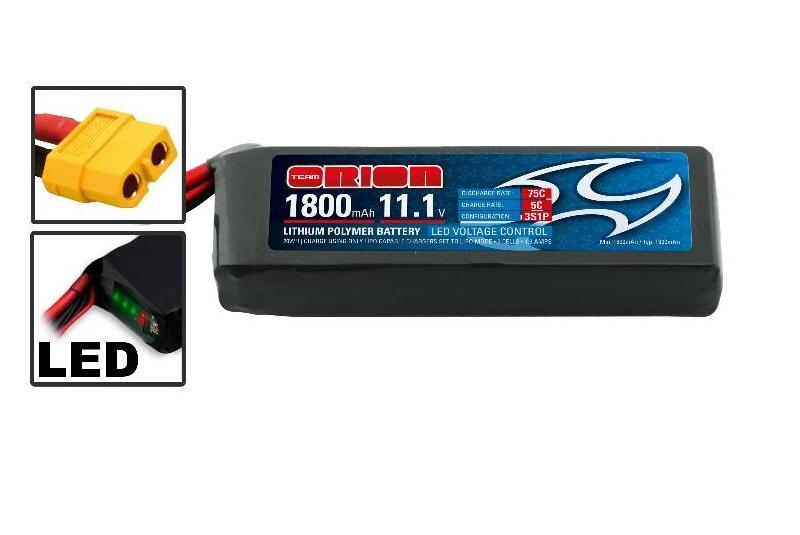 Аккумулятор Team Orion Batteries 11.1V 1800mAh 75C LiPo XT60 plug Drone racing