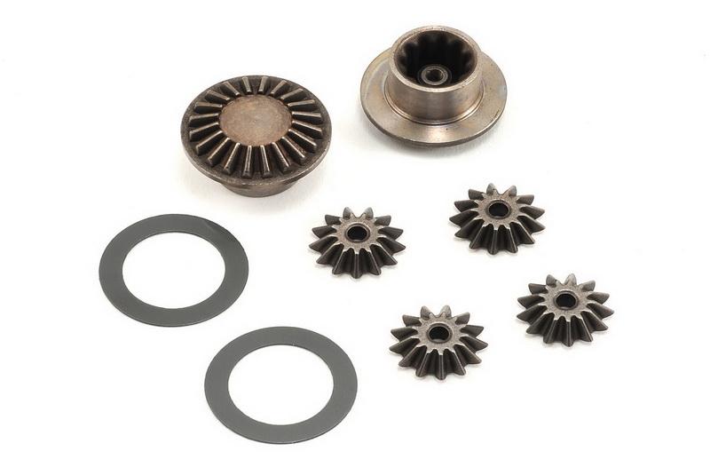 Запчасти для радиоуправляемых моделей Traxxas TRAXXAS Gear set, differential (output gears (2): spider (4): 16x23.5x.5mm TW (2))