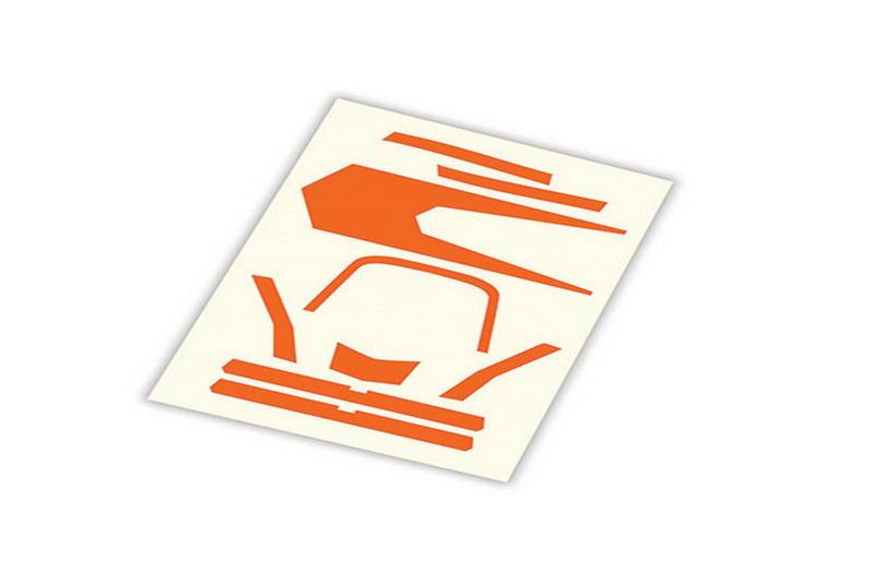 Запчасти для радиоуправляемых моделей Traxxas TRAXXAS Decals, high visibility, orange