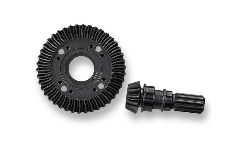 Фото - Запчасти для радиоуправляемых моделей Traxxas TRAXXAS Ring gear, differential: pinion gear, differential (machined, spiral cut) (front) запчасти для радиоуправляемых моделей traxxas traxxas gear 18 t pinion machined 1 0 metric pitch fits 5mm shaft set screw compatible with steel s