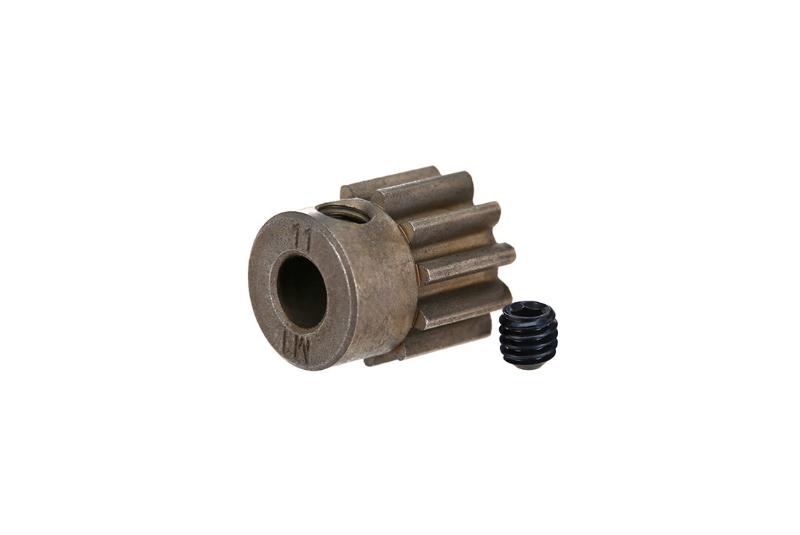 Фото - Запчасти для радиоуправляемых моделей Traxxas TRAXXAS Gear, 11T pinion (1.0 metric pitch) (fits 5mm shaft): set screw запчасти для радиоуправляемых моделей traxxas traxxas gear 18 t pinion machined 1 0 metric pitch fits 5mm shaft set screw compatible with steel s