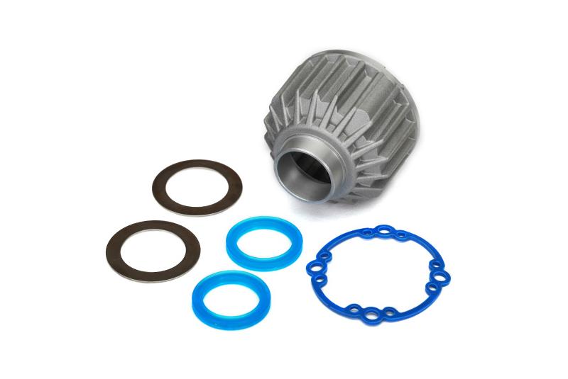 Запчасти для радиоуправляемых моделей Traxxas TRAXXAS Carrier, differential (aluminum) запчасти для радиоуправляемых моделей traxxas traxxas x maxx motor mount washer blue 4