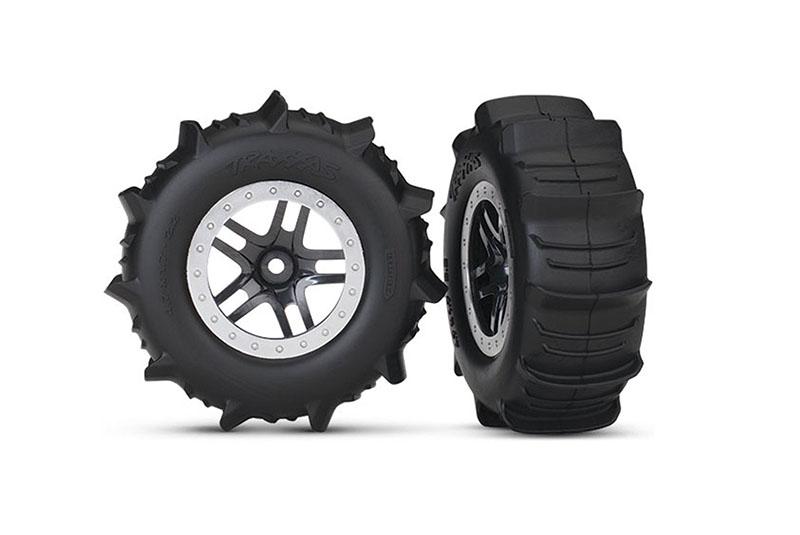 Колеса в сборе TRAXXAS Paddle Tires Slash