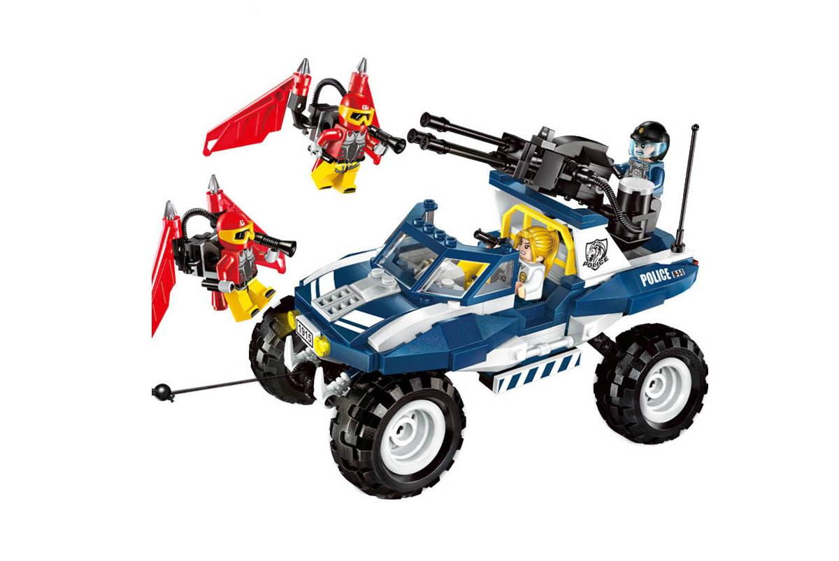 Конструктор Brick Полицейская машина игрушка попрыгун altacto полицейская машина белый