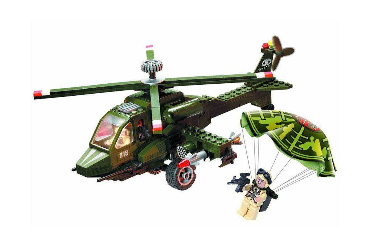 Конструктор Brick Военный вертолет