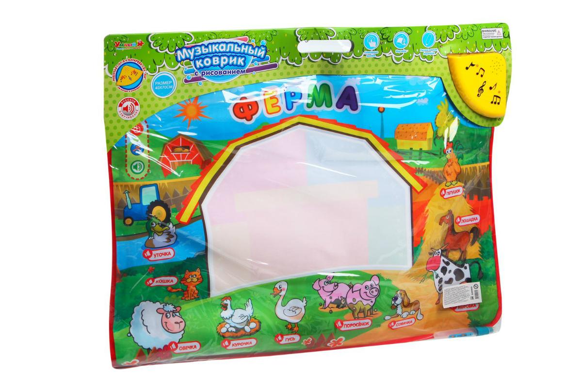 Обучающая игрушка Zhorya Музыкальный коврик Ферма