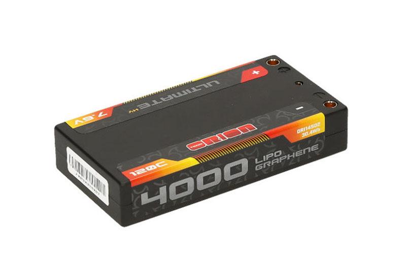 Аккумулятор Team Orion Batteries Ultimate Graphene HV Lipo 7.6 V (2s) 4000mAh 120C Hard Case Tubes
