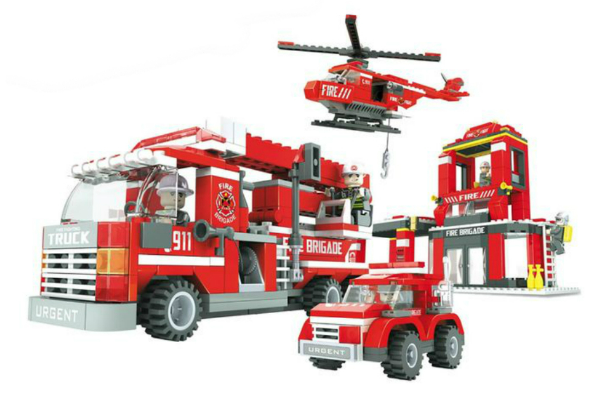 Конструктор Ausini Пожарная бригада конструктор ausini гонка 26101