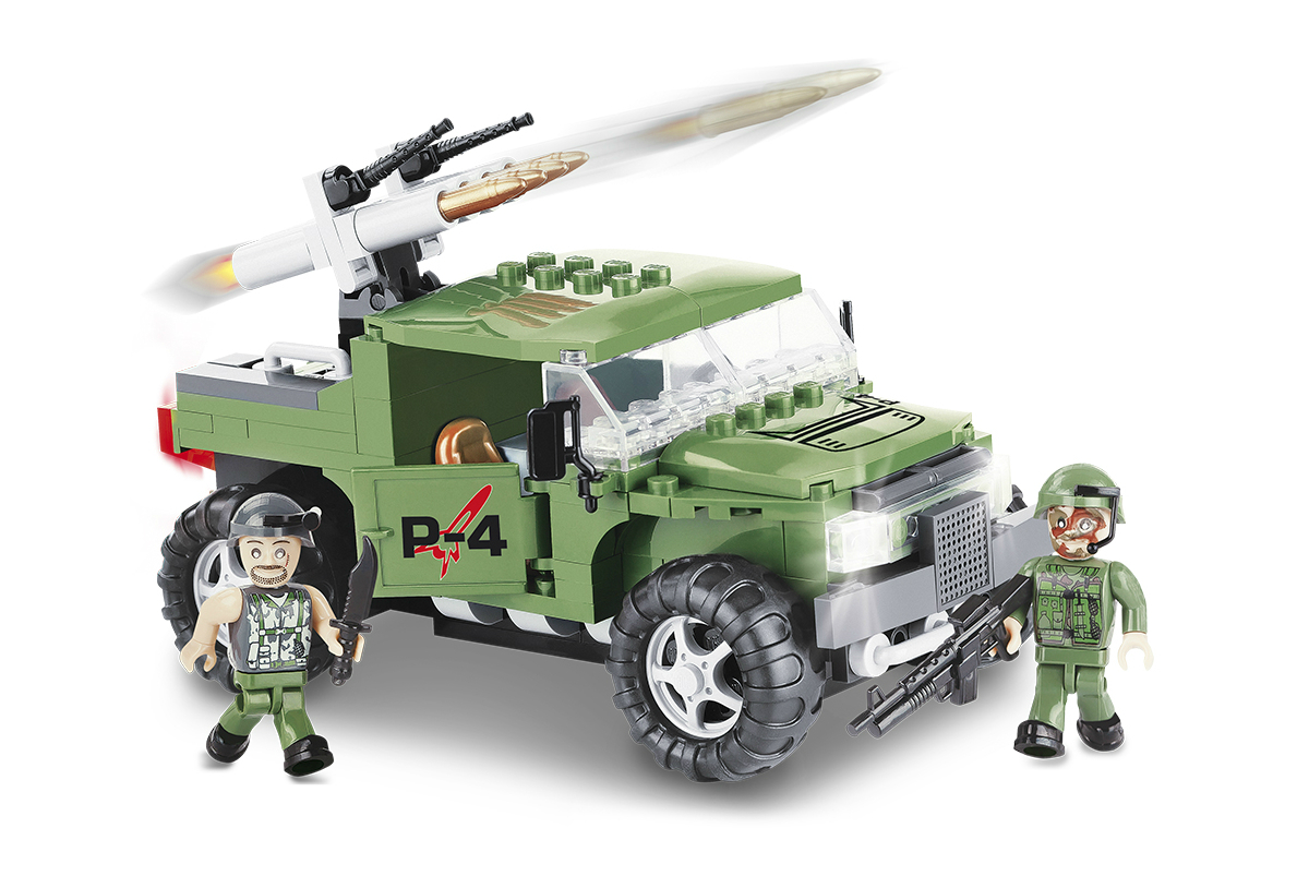 Конструктор COBI Военный джип P-4 Armoured Car