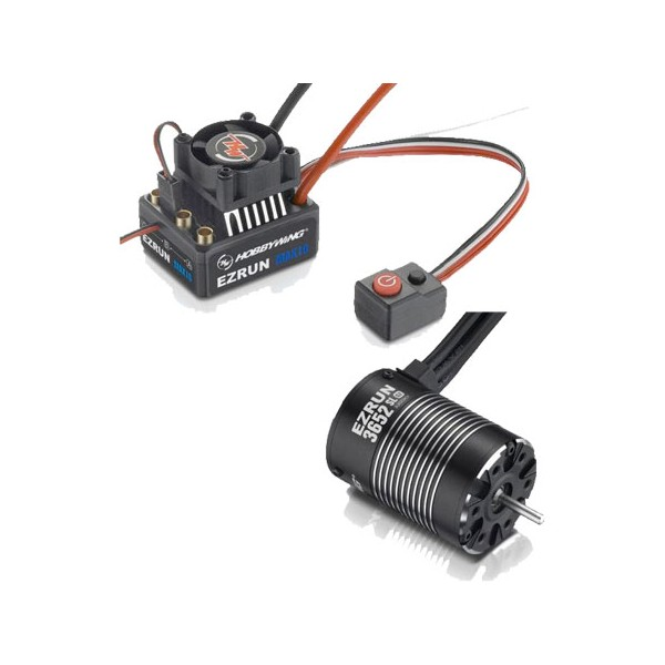 Б/К Система Hobbywing Ezrun COMBO MAX10 3652SL 3300KV hobbywing rc switch for ezrun max5 max6 max8 xr8 max10 sct waterproof brushless esc for rc car