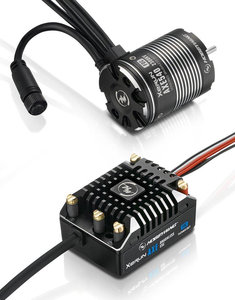 Фото - Электродвигатель бесколлекторный + регулятор оборотов Hobbywing Xerun COMBO AXE 540 1800KV FOC электродвигатель бесколлекторный hobbywing ezrun 3660 sl 4000 kv