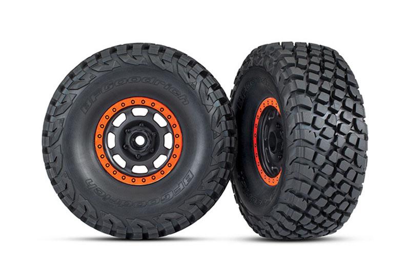 Колеса в сборе TRAXXAS Unlimited Desert Racer (orange)