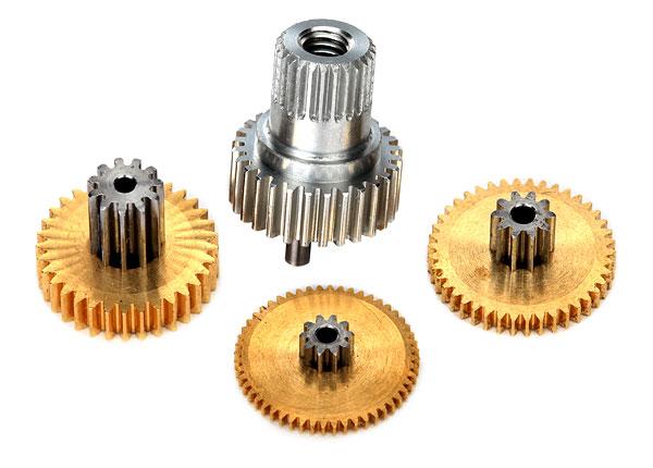 Запчасти для радиоуправляемых моделей Traxxas TRAXXAS Gear set, metal (for 2080X micro waterproof servo)