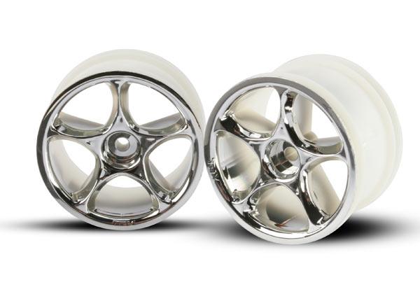 Аксессуары для радиоуправляемых моделей TRAXXAS Wheels, Tracer 2.2' (chrome) (2) (Bandit rear)