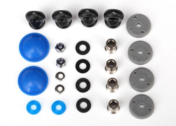 Запчасти для радиоуправляемых моделей Traxxas TRAXXAS Rebuild kit, GTR long:xx-long shocks (x-rings, bladders, pistons, piston nuts, shock rod ends, hollo