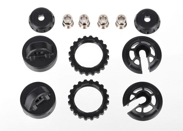 Запчасти для радиоуправляемых моделей Traxxas TRAXXAS Caps and spring retainers, GTR long:xx-long shock (upper cap (2): hollow balls (4): bottom