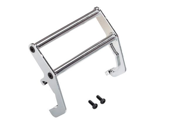 Запчасти для радиоуправляемых моделей Traxxas TRAXXAS Push bar, bumper, chrome (assembled) (fits #8137 bumper)