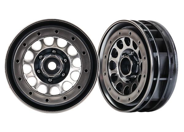 Аксессуары для радиоуправляемых моделей TRAXXAS Wheels, Method 105 1.9 (black chrome, beadlock) (beadlock rings sold separately) аксессуары для радиоуправляемых игрушек
