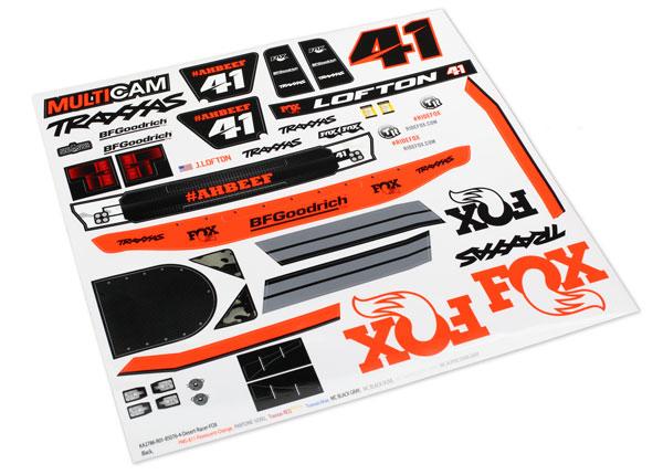 Запчасти для радиоуправляемых моделей Traxxas TRAXXAS Decals, Unlimited Desert Racer®, Fox® Edition