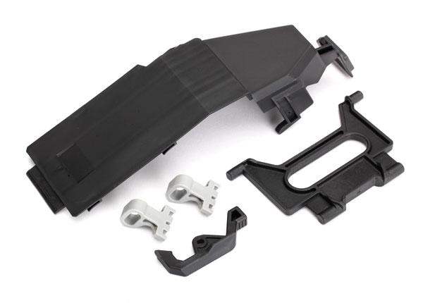 Запчасти для радиоуправляемых моделей Traxxas TRAXXAS Battery door: battery strap: retainers (2): latch