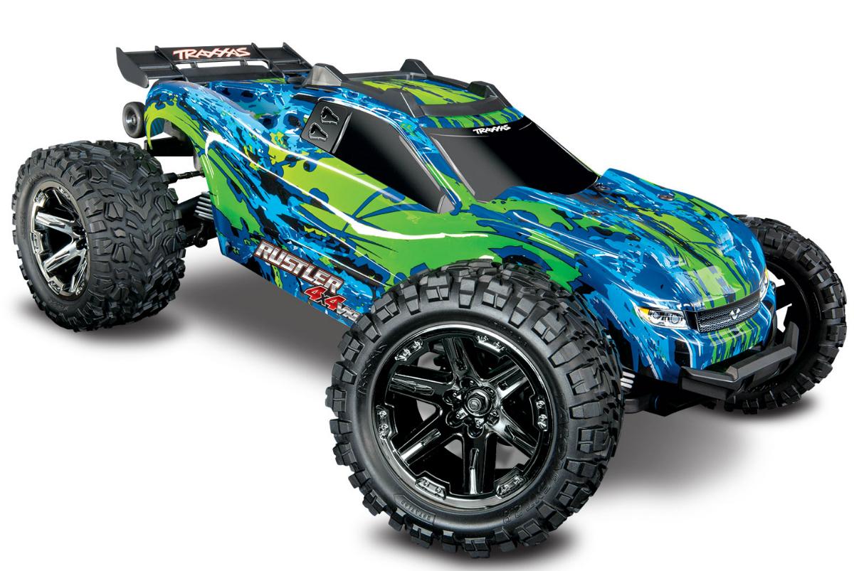 Радиоуправляемая модель машины TRAXXAS Rustler 4X4 VXL 1:10 4WD TSM
