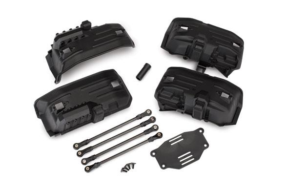 Запчасти для радиоуправляемых моделей Traxxas TRAXXAS Chassis conversion kit, TRX-4® (long to short wheelbase) (includes rear upper & lower suspension links, front inner fenders, female half shaft, battery tray, 3x8mm FCS (4))