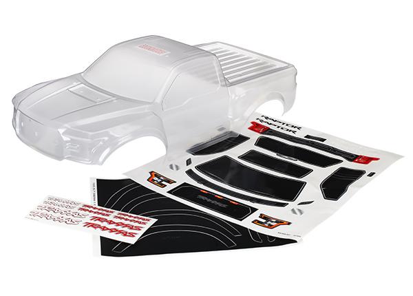 Аксессуары для радиоуправляемых моделей TRAXXAS Body, Ford Raptor®, heavy duty (clear, requires painting)/ decals