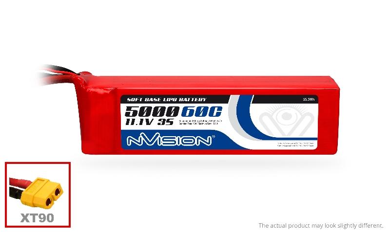 Аккумуляторы и батарейки nVision Аккумулятор LiPo 5000mAh 3S 11.1V 60C (XT90 plug)