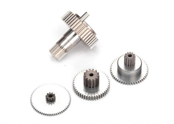 Запчасти для радиоуправляемых моделей Traxxas TRAXXAS Gear set, metal (for 2250, 2255 servos)
