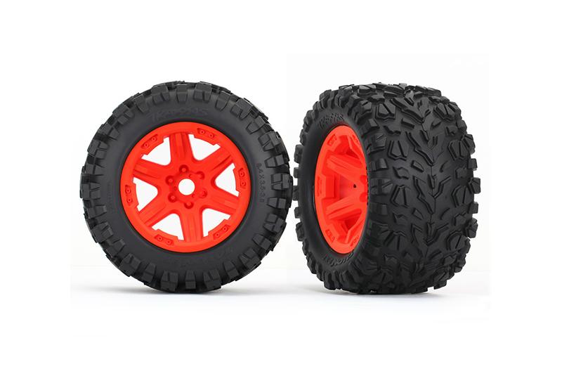 Колеса в сборе TRAXXAS Orange wheels + 3.8 Talon EXT tires foam inserts