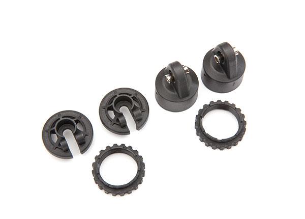 Запчасти для радиоуправляемых моделей Traxxas TRAXXAS Shock caps, GT-Maxx® shocks/ spring perch/ adjusters/ 2.5x14 CS (2) (for 2 shocks)