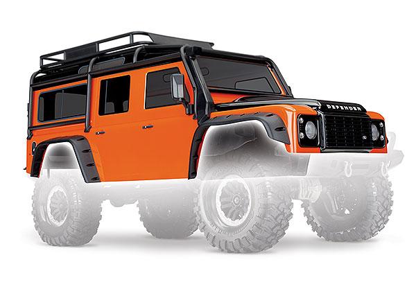 Аксессуары для радиоуправляемых моделей TRAXXAS Кузов TRX-4 Land Rover Defender (orange) аксессуары для радиоуправляемых игрушек