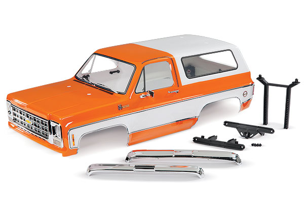 Аксессуары для радиоуправляемых моделей TRAXXAS Body, Chevrolet Blazer (1979), complete (orange) (includes grille, side mirrors, door handles, windshield wipers, front & rear bumpers, decals)