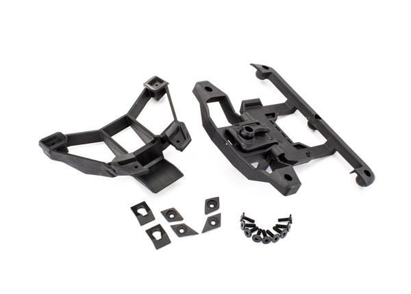 Крепления корпуса, передние и задние TRAXXAS BCS 3x12 мм (1) / винт с буртиком 3x12 мм (2) / 3x8 мм CS (2) / 3x15 мм винт с плоской головкой (9)