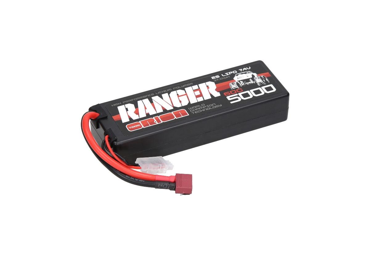 Аккумулятор Team Orion Batteries 2S 60C Ranger LiPo Battery (7.4V/5000mAh) T-Plug аккумулятор team orion batteries 11 1v 2200mah 50c lipo xt60 plug led status