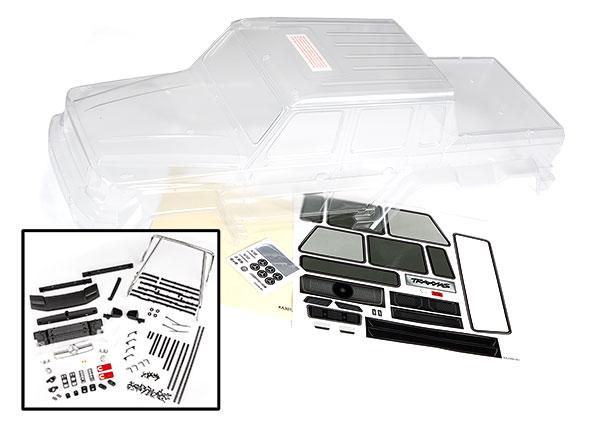 Аксессуары для радиоуправляемых моделей TRAXXAS Body, Mercedes-Benz® G 63® (clear, requires painting)/ decals/ window masks (includes grille, side mirrors, door handles, & windshield wipers)