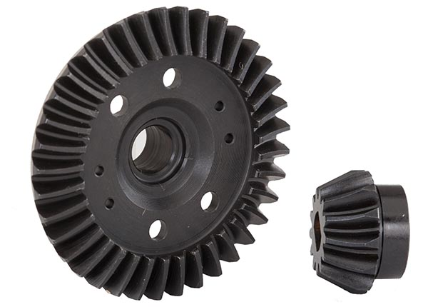 Фото - Запчасти для радиоуправляемых моделей Traxxas TRAXXAS Ring gear, differential/ pinion gear, differential (machined, spiral cut) (rear) запчасти для радиоуправляемых моделей rpm alias landing gear black