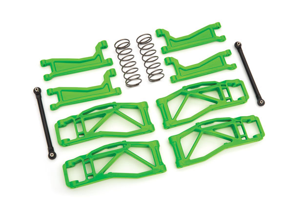 Запчасти для радиоуправляемых моделей Traxxas TRAXXAS Suspension kit, WideMaxx™, green (includes front & rear suspension arms, toe links, shock springs)