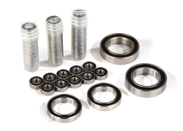 Запчасти для радиоуправляемых моделей Traxxas TRAXXAS Ball bearing set, TRX-4® Traxx™, black rubber sealed, stainless (contains 5x11x4 (40), 20x32x7 (2), & 17x26x5 (2) bearings/ 5x11x.5mm PTFE-coated washers (40)) (for 1 pair of front or rear tracks)