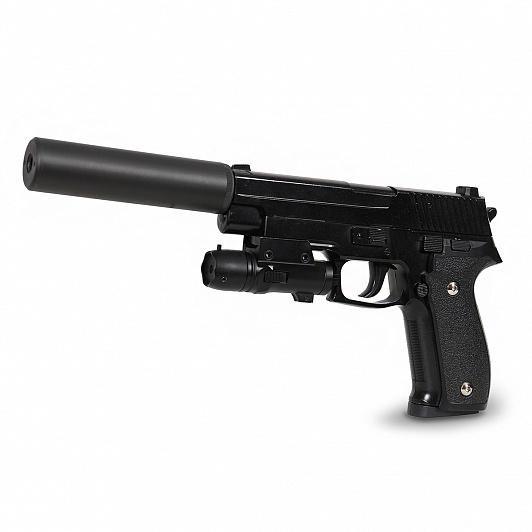 Игрушка HC-Toys Пистолет пневматика металлический cs toys пистолет пневматика металлический 15 см с глушителем g 3a cs g3a